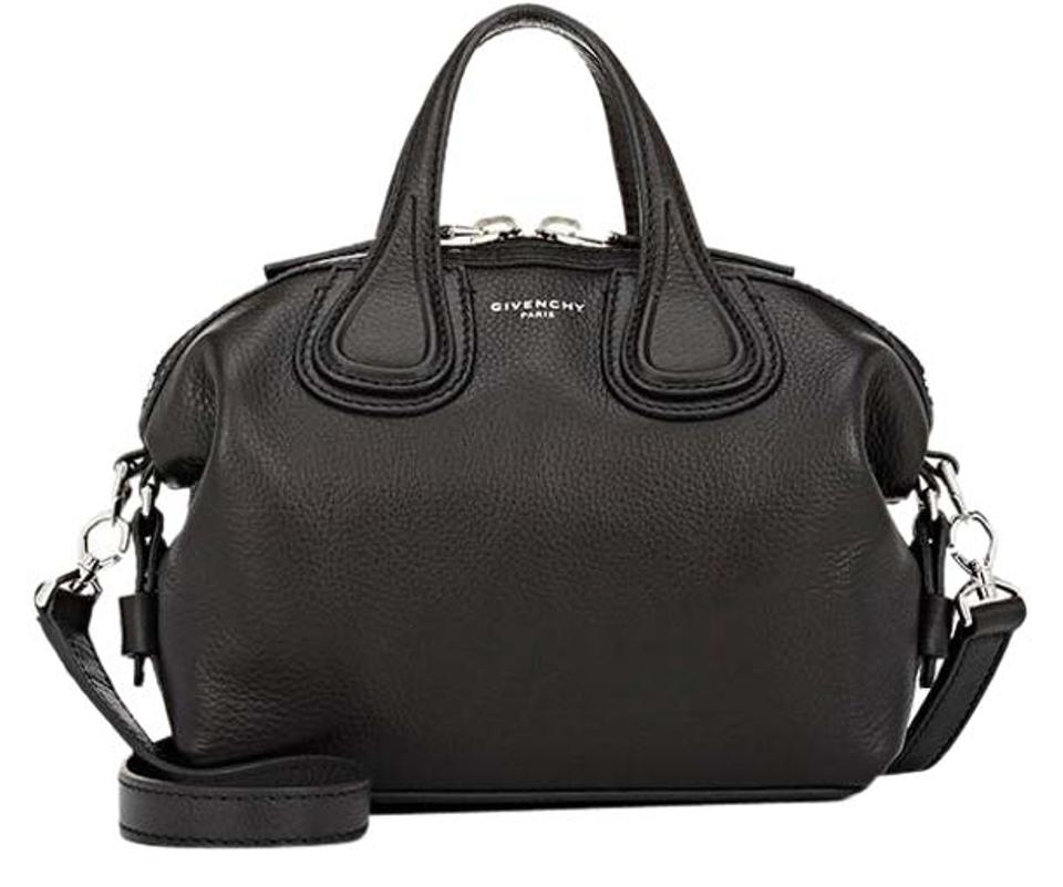 3bb5bd94b96 Givenchy New Grained Nightingale Micro Black Leather Satchel 44% off retail