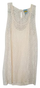 C&C California short dress Cream Lace on Tradesy