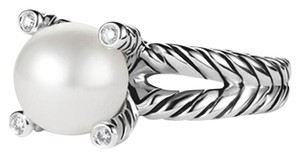 David Yurman Cable Pearl Ring with Diamonds