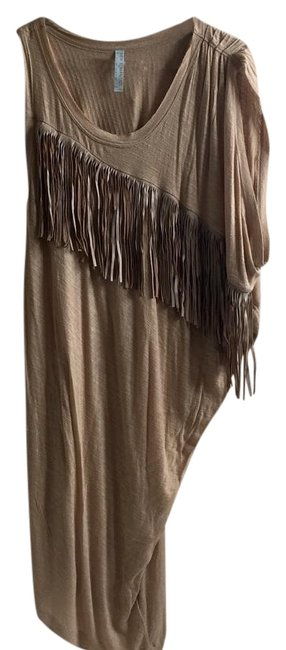 Item - Brown New Romantics Native Inspired Mid-length Short Casual Dress Size 6 (S)