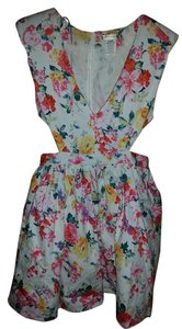 A'gaci short dress Floral Cut-out on Tradesy