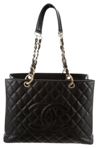 Chanel Gst Grand Shopping Tote in Black