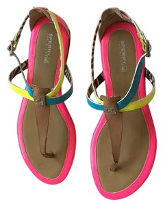 Sperry Bright pink, yellow, and turquoise Sandals