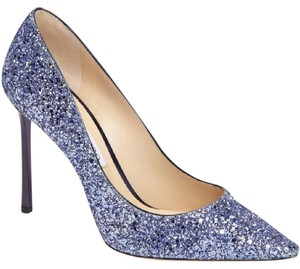 Jimmy Choo Louboutin Wedding Glitter silver Formal