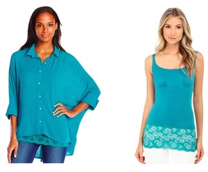 Miraclesuit Shell Oversized Top Teal