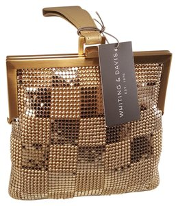 Whiting & Davis Wristlet in Gold Mesh