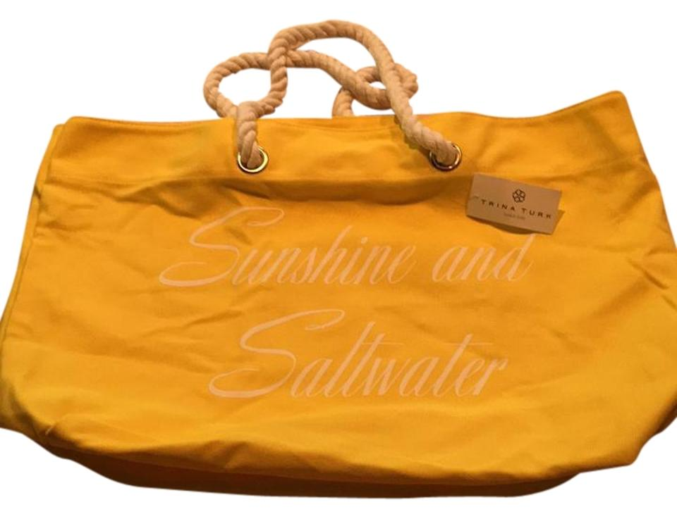 Trina Turk Yellow Beach Bag