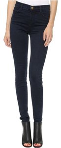 J Brand Stretch Denim High-waist Skinny Jeans-Dark Rinse