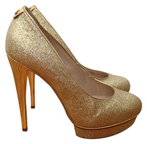 Michael Kors Glitter Gold Pumps