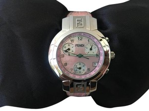 Fendi Fendi Pink Embossed Crocodile Chronograph Watch!!!