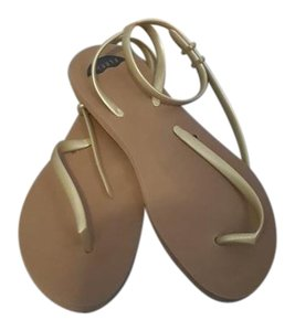 Fleeps Thong Beach Flip-flop Gold Sandals