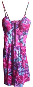She's Cool short dress Multi Floral Fitted Bustier 80s on Tradesy