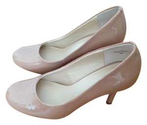 Nine West Patent Nude Pumps