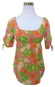 Lilly Pulitzer Top Pink Yellow