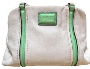 Marc by Marc Jacobs Satchel in White & Mint Blue