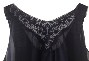 Isabella Rodriguez Sheer Top Black