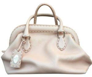 Fendi Leather Selleria Handbag Satchel in Pink