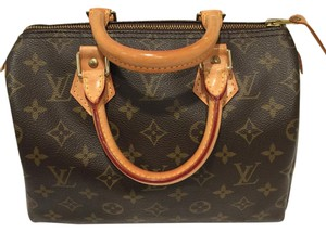 Louis Vuitton Speedy25 Monogram Lv Lvspeedy Satchel in Brown