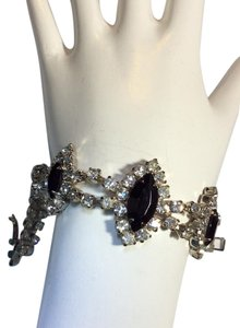 Creative designs by appealinglady Black Rhinestoned Bracelet