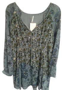 Free People short dress Sage multi, 10 (m) fit Tunic. New With Tags on Tradesy