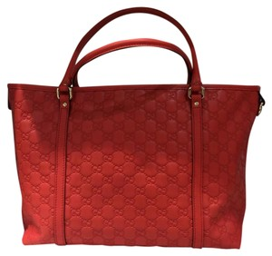 Gucci Tote in Coral/Red