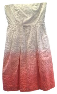 J.Crew short dress Ombre White to Pink on Tradesy