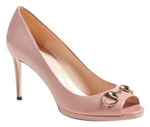 Gucci Leather Horsebit Louboutin Jimmy Choo Pink Dusty Rose Pumps