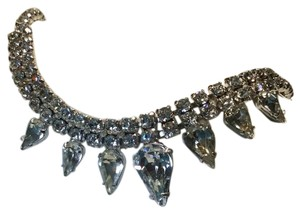 Creative designs by appealing lady Teardrop Rhinestone Necklace : beautiful Vintage piece