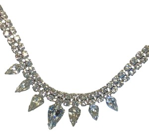 Kramer Teardrop Rhinestone Necklace : beautiful Vintage piece