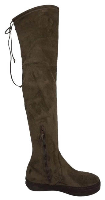 Item - Brown Playtime Swamp Suede Over The Knee Boots/Booties Size US 7 Regular (M, B)