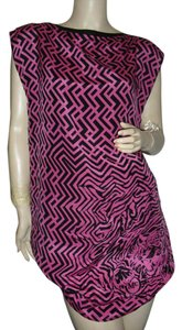Alexander McQueen short dress rose pink & black on Tradesy