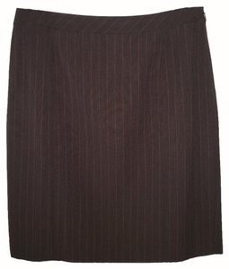 Lafayette 148 New York Wool Pencil Pinstriped Skirt
