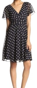 Jessica Howard Polka Dot Chiffon Flutter Sleeve Wedding Guest Wear To Wedding Dress