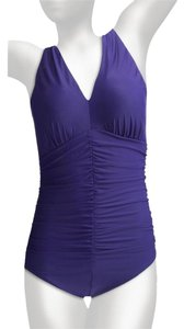 Miraclesuit Eggplant Sonatina Slimming Swimsuit Plus Size 22W
