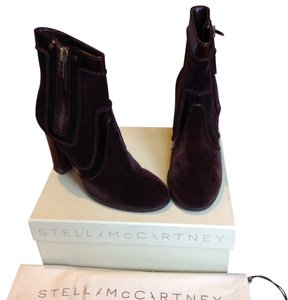 Stella McCartney Vegan Velvet Chocolate Brown Boots