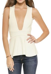 Bec & Bridge Plunge Raw Top White
