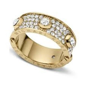 Michael Kors MICHAEL KORS Gold-Tone Crystallized Astor Ring MKJ3273 Size 6