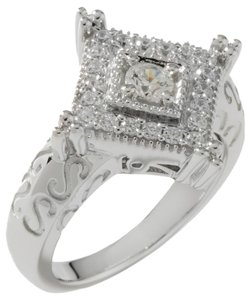 Robert Manse Robert Manse .50ct Absolute Sterling Silver Square Textured Ring