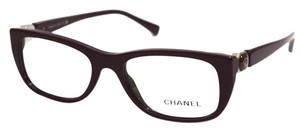Chanel CHANEL Maroon Eyeglasses with Case