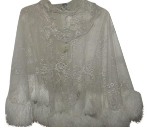 & Other Stories Lace Lace Trim Fur Top WHITE