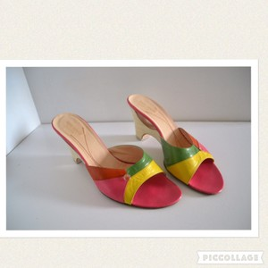 Kate Spade Pink, yellow, green Wedges