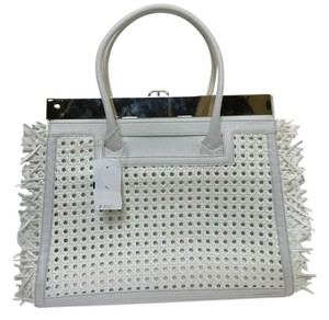 Dee Ocleppo Convertible Two Bags In One New Never Worn Display Stunning Satchel White