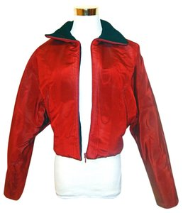 Jean-Paul Gaultier Bomber Crop Red Jacket
