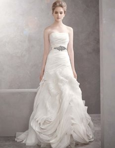 Vera Wang Vera Wang Organza Fit And Flare Gown With Bias Flange Skirt (style #vw351011) Wedding Dress