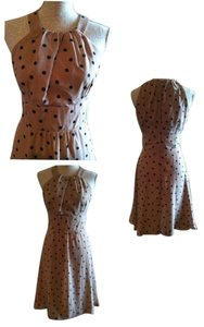 Scarlett Nite short dress Light brown with Polka dots on Tradesy