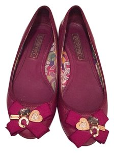 Coach Purple/burgundy Flats