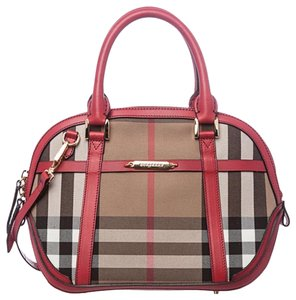 Burberry Satchel in Red military