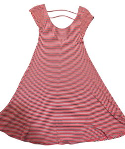 American Eagle Outfitters short dress Coral Stripe Sundress on Tradesy
