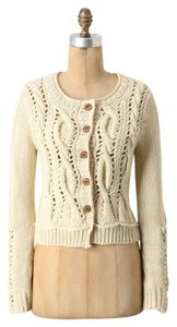 Anthropologie Wavy Cables Knit Cardigan