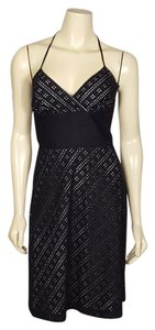 White House | Black Market short dress black and white Halter Style Summer Sz 2 on Tradesy